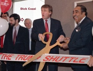 trump shuttle and Dick Cozzi
