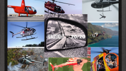 collage of open door helicopters