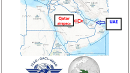 ME airspace, ICAO seal and map