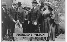 first flight, Pres. Wilson, enactment of landing
