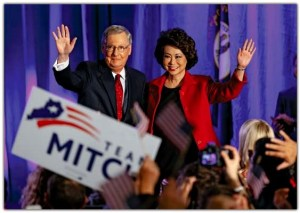 Sen. McConnell and Sec. Chao