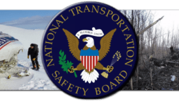 NTSB seal and pictures