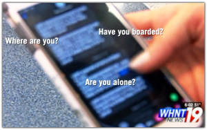 Target's cellphone  messages from Trafficker
