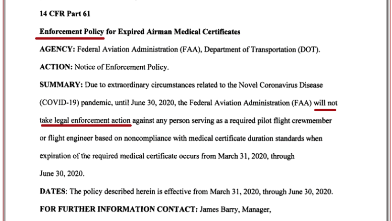FAA AGC Enforcement Policy Notice