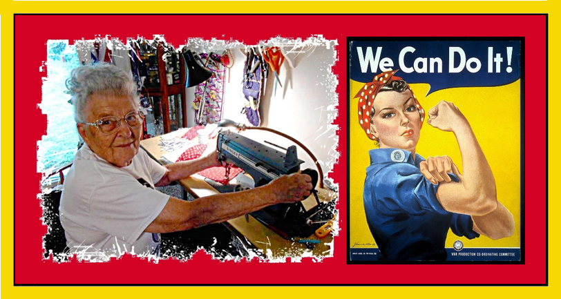 Rosie the Riveter now and then