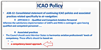 ICAO training policy