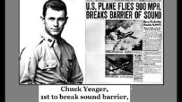 Yeager, newspaper and headline
