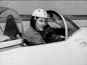 Chuck in cockpit