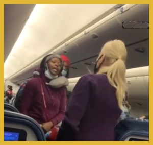 flight attendant and passenger square off