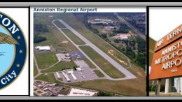 Anniston city seal airport runway and sign