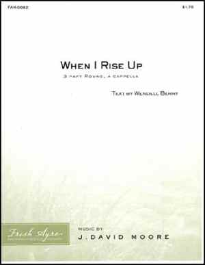Sheet music cover image for choral composition When I Rise Up