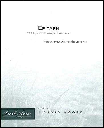 Sheet music cover image for choral composition Epitaph