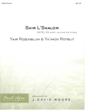 Sheet music cover image for choral arrangement of Shir L'Shalom