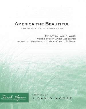 Sheet music cover image for choral arrangement America the Beautiful