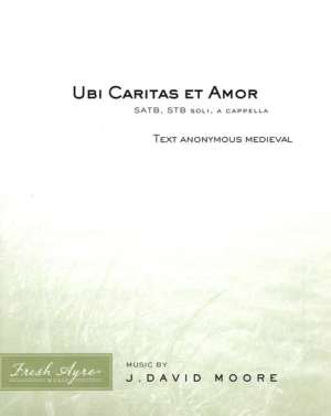 Sheet music cover image for choral composition Ubi Caritas et Amor