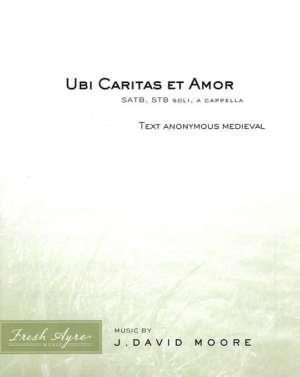 Sheet music cover image for choral composition Ubi Caritas et Amor