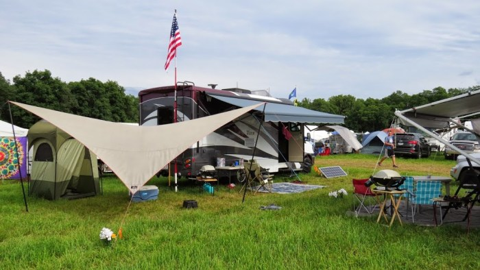 Campsite at Grey Fox