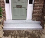 Carrara marble steps in St Albans
