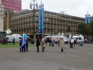 'Yes''s last stand, outnumbered by TV crews: George Square, Glasgow