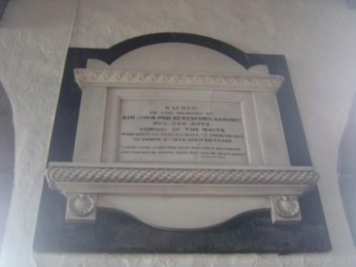 Memorial to Sir John Poo Beresford, Bedale