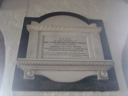 Memorial to Sir John Poo Beresford, Bedale