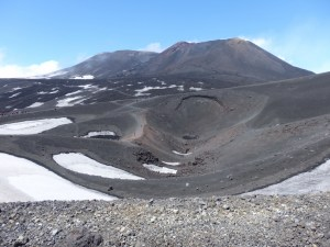 Etna, with permanent snow