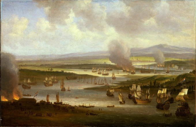 Random picture to increase tension - the Dutch in the Medway, by William Schellinks