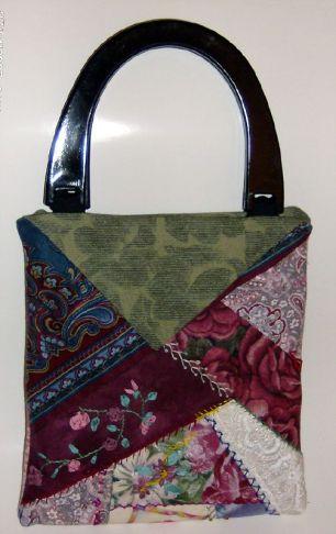 crazy quilt purse