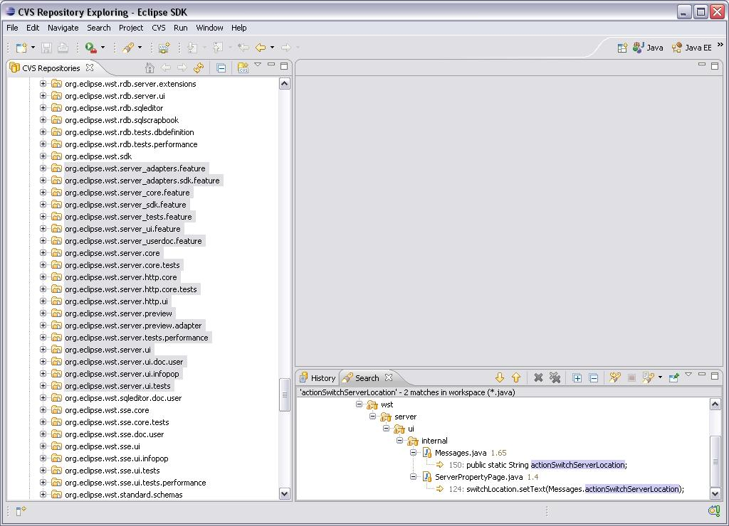 Eclipse WTP - Search Result 2