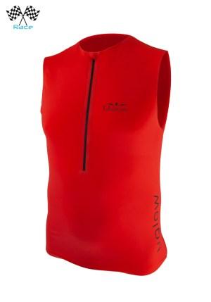 Camiseta trail running| running hombre con cremallera sin mangas Uglow Rojo
