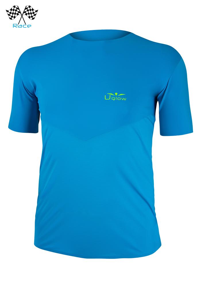 Camiseta running hombre de manga corta,Uglow Speed Aero TSA1 Azul