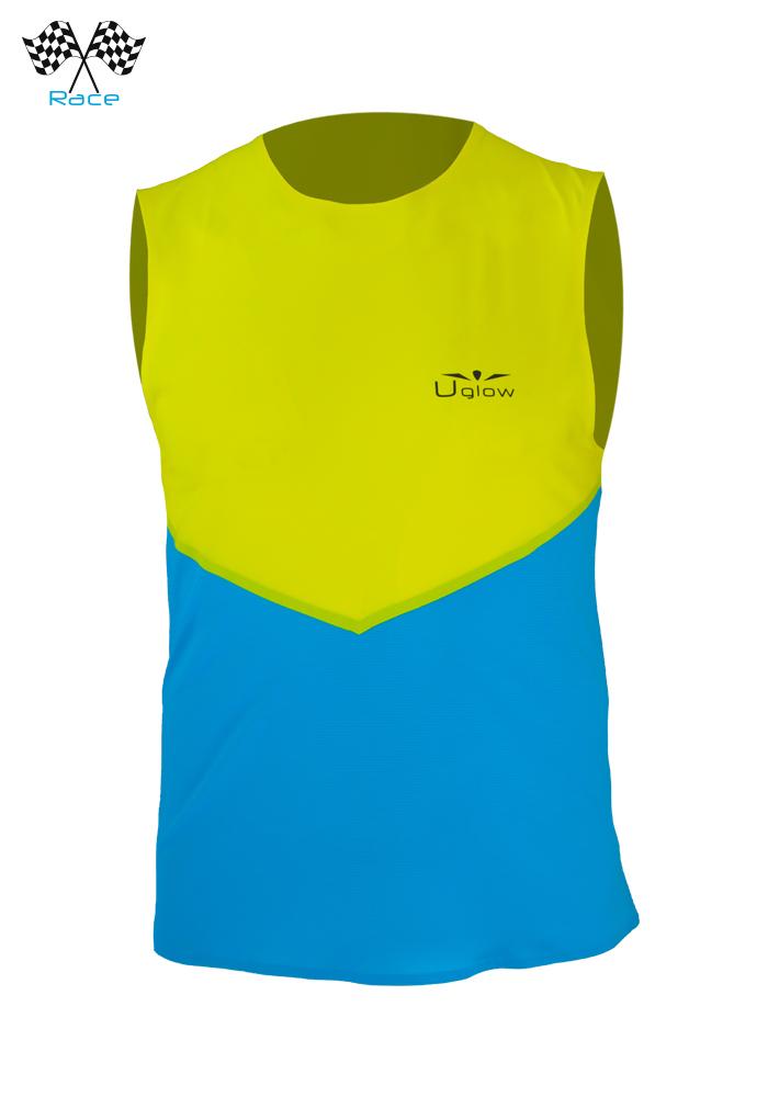 Camiseta Uglow Speed Aero Sin Mangas Azul/Amarillo WTTSA2