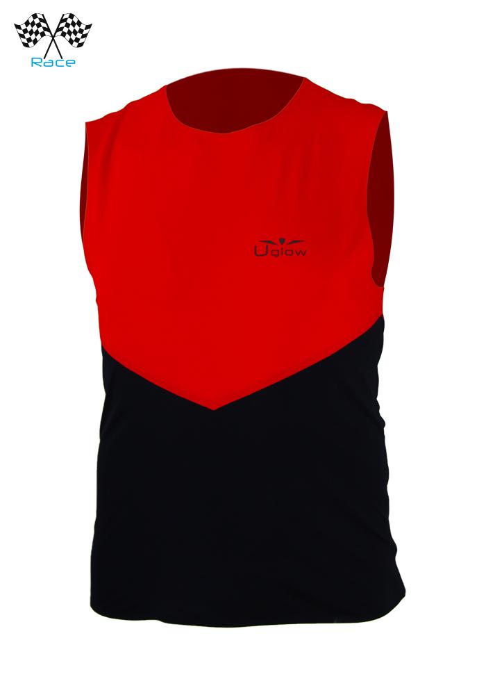 Camiseta Uglow Speed Aero Sin Mangas Rojo/Negro WTTSA3