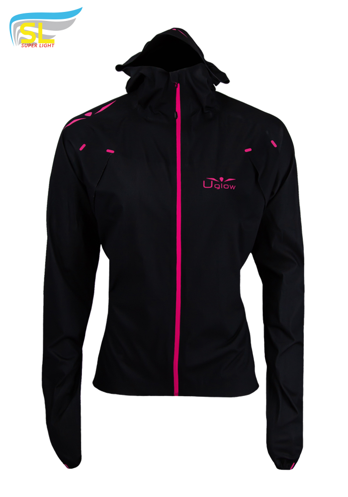 Impermeable Rain X Uglow Mujer RJX1 Negro/Rosa
