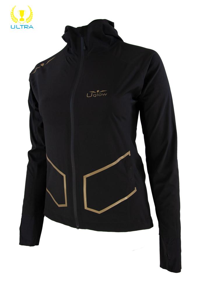 Chaqueta Impermeable mujer 20.000 columnas de impermeabilidad, Ultra Rain Jacket RJ4- Negro/Oro