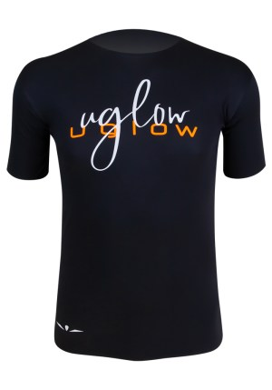 camiseta running super speed aero negro naranja