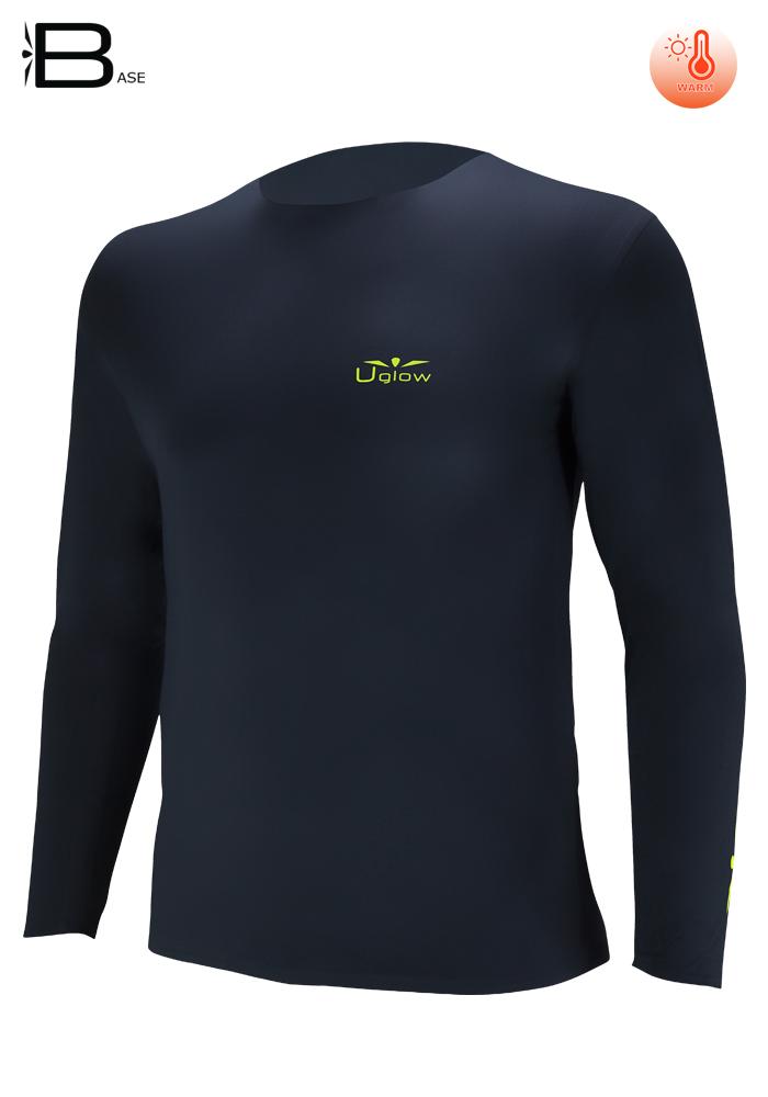 Camiseta manga Larga Hombre Uglow TLS 2 Negro/Amarillo