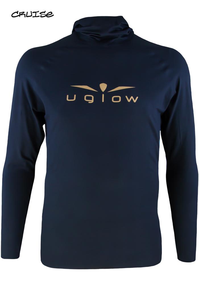 Camiseta térmica de hombre Uglow con capucha Negro/Oro H5