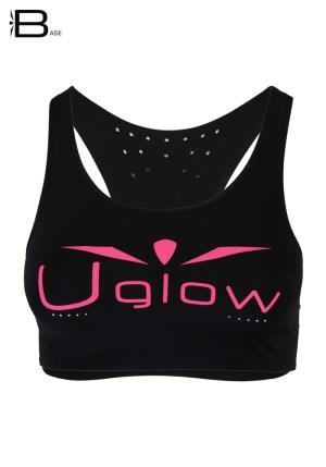 Top deportivo mujer Uglow Negro/rosa
