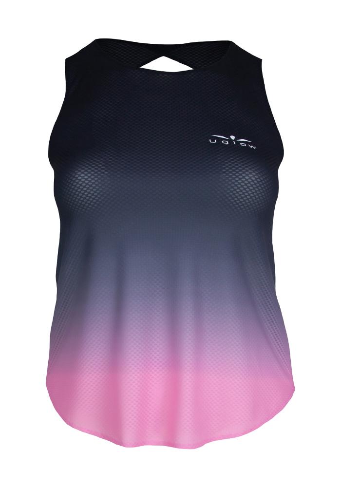 Camiseta de tirantes running para mujer degradado rosa Speed Aero, TT4 C2