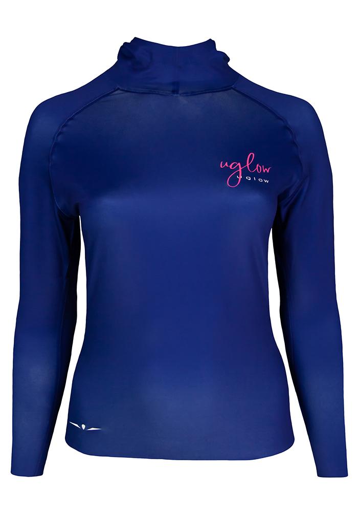 Camiseta térmica de mujer Uglow con capucha Azul Marino