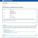 2003: US Patent US7776521B1 Coronavirus isolated from humans