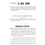 H. Res. 598 Impeaching Joseph R. Biden