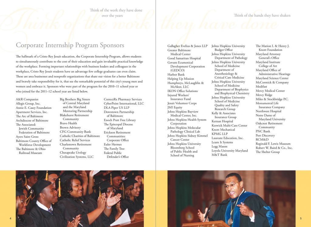 Cristo Rey Jesuit Annual Report