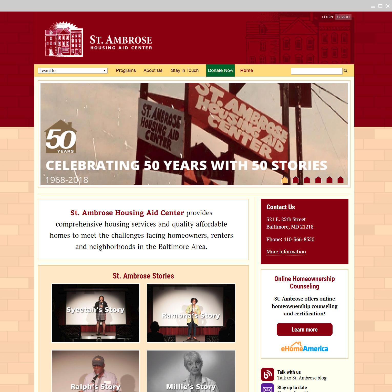 St. Ambrose Housing Aid Center Website