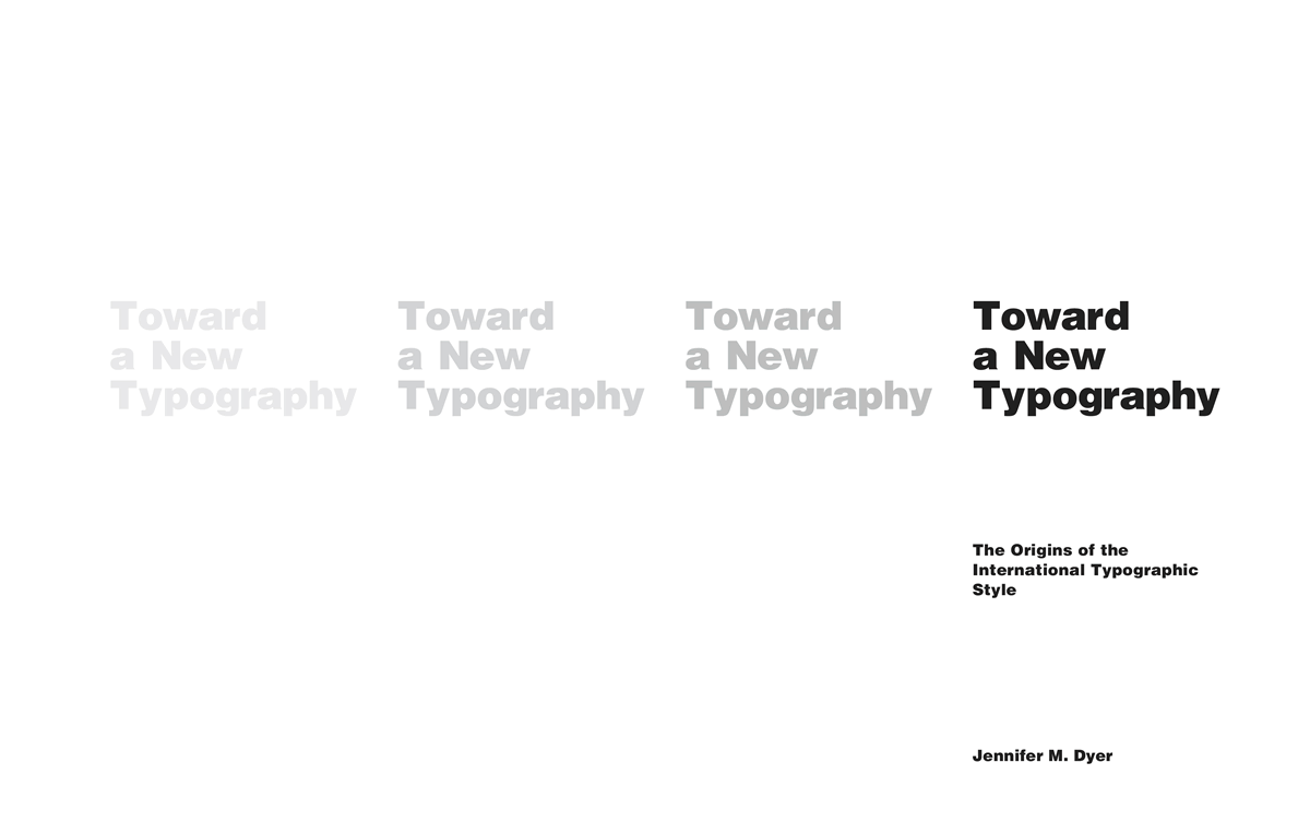 Toward a New Typography