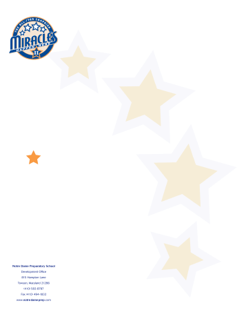NDP All-Star Campaign Letterhead
