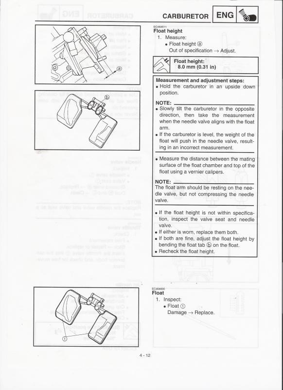 FCR-MX Float Level Setting - JD Jetting