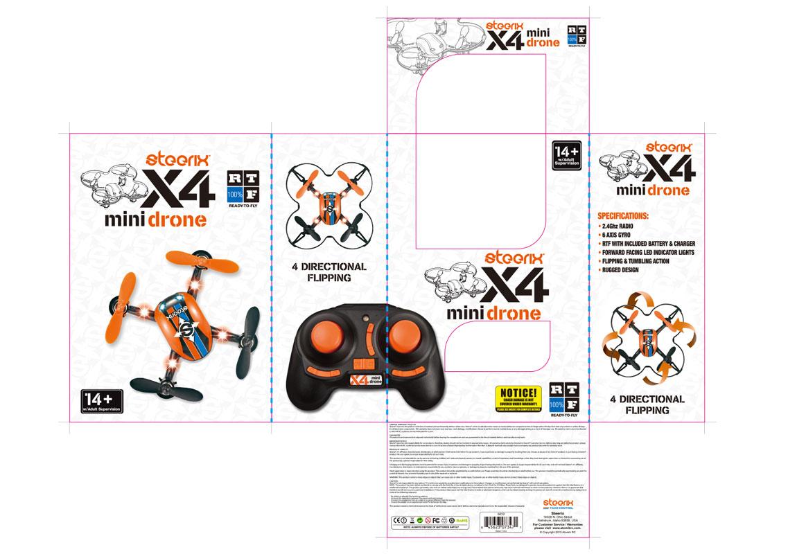 Steerix mini drone packaging