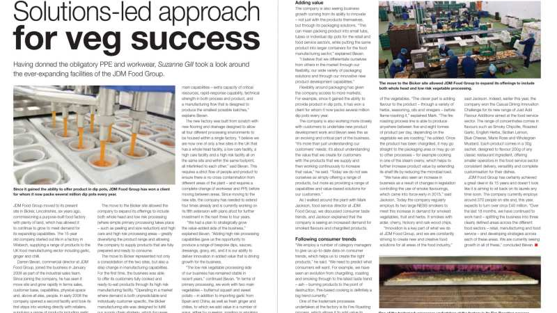 solutions-led approach to veg success